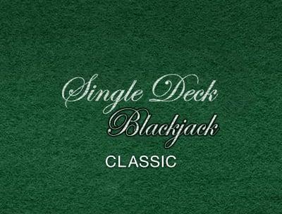 Classic Single Deck Blackjack